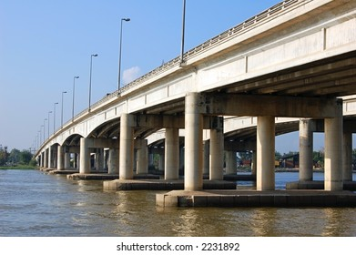 A bridge over the Chao Phraya river in Thailand