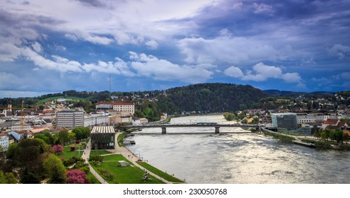 Bridge over the Danube in Linz