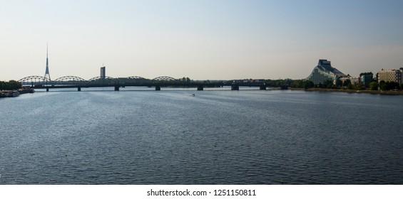 Bridge over the Daugava river in Riga
