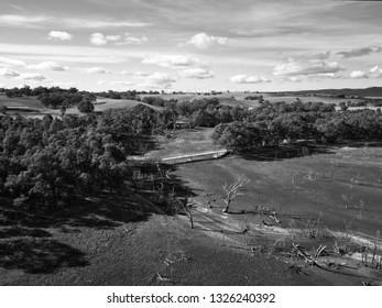 Bridge Over a Dry Lake Eppalock