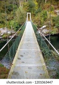 Bridge over Eo river, between Asturias and Galicia, near San Tirso de Abres village. Spain