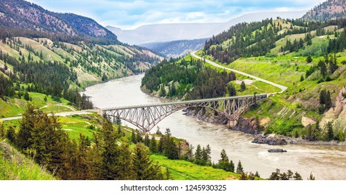 Bridge over the Fraser River at Williams Lake British Columbia Canada