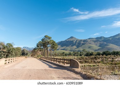 The bridge over the Gobos River at the entrance to Greyton, a small town in the Western Cape Province of South Africa