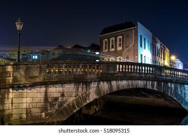 Bridge over Lee River in Cork City, Ireland