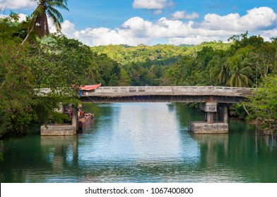 Bridge over Loboc river, Bohol island, Phillipines