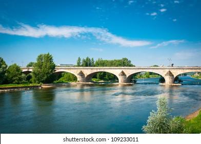 Bridge over Loire river, Orleans, Loire Valley, France