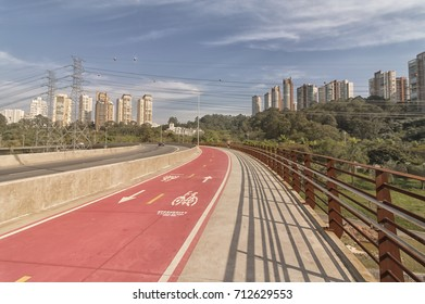Bridge over the  Marginal Pinheiros (officially SP-015) in Sao Paulo, Brazil.