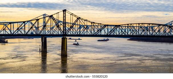 Bridge over the Mississippi River at Vicksburg, Mississippi