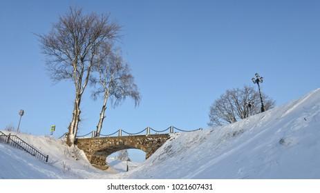 Bridge over the moat, Gorodnya village
