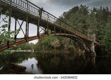 Bridge over Modre Lake in Siedlecin