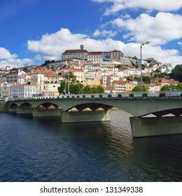 Bridge over the Mondego river in Coimbra - Portugal