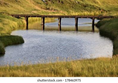 Bridge over the Moose Jaw River in scenic Saskatchewan