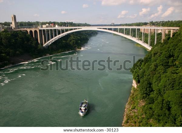 The bridge over the Niagara.  This bridges the US and Canada.