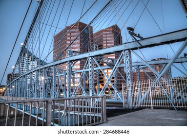 Bridge over the Ohio river in Cincinnati