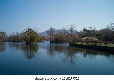 大沼・小島・駒ヶ岳に架かる橋