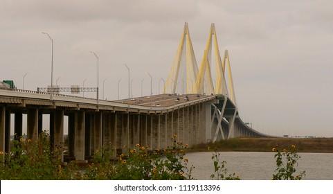 A bridge over the port of Houston.