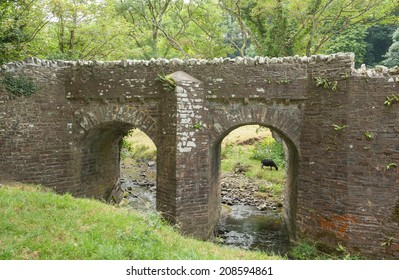 Bridge over the River Abbey in Hartland, Devon, England, UK