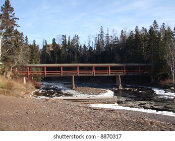 A Bridge Over a River Entering Lake Superior