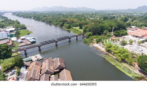Bridge Over The River Kwai is taken above by drone