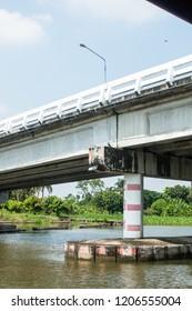 Bridge over the river Nakhon Pathom Thailand