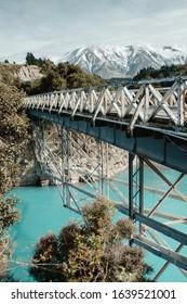 Bridge over river in New Zealand