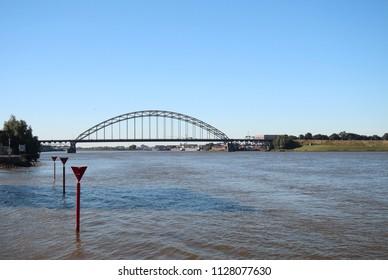 Bridge over the river Noord in Alblasserdam in the Netherlands.