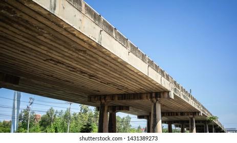 Bridge over the road in thailand