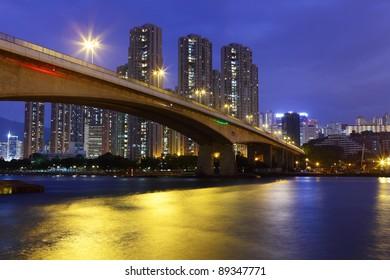 bridge over the sea in Hong Kong