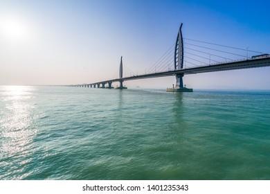 bridge over sea in Zhuhai China