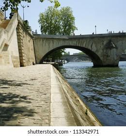 Bridge over the Seine, in Paris