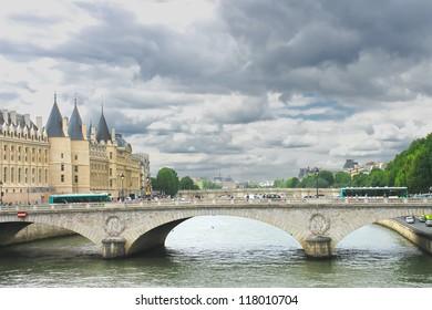 Bridge over the Seine. Paris. France