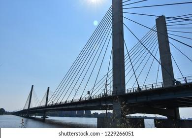 Bridge over St Lawrence river in Laval