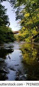 bridge over a stream