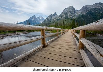 Bridge over String Lake - Grand Teton National Park