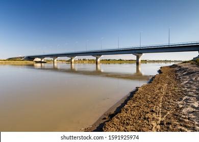 bridge over the Syr Darya river, Kazakhstan. - Shutterstock ID 1591925974
