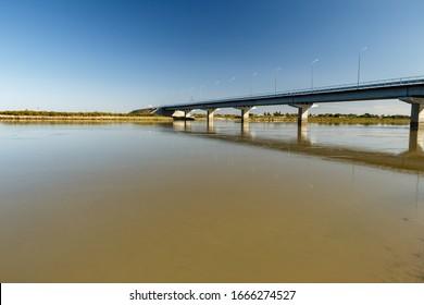 bridge over the Syr Darya river, Zhosaly, Kyzylorda Province in Kazakhstan. - Shutterstock ID 1666274527