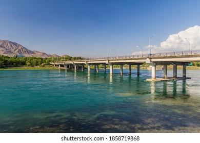 Bridge over Syr Darya river in Khujand, Tajikistan - Shutterstock ID 1858719868