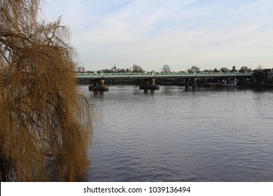 A bridge over the Thames viewed from Putney Bridge