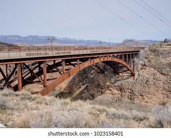 Bridge over the Virgin River in Hurricane, Utah