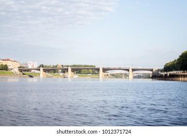 The bridge over the Volga River