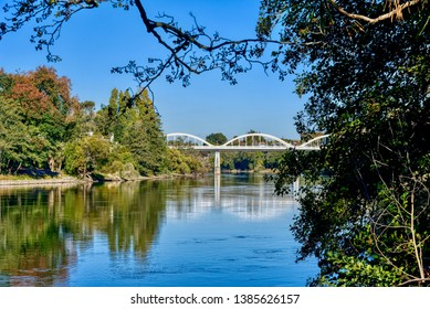 Bridge over the Waikato River in Hamilton, New Zealand