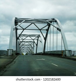 A bridge over the Waikato River at Huntly in New Zealand