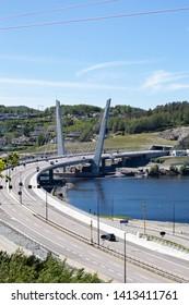 Bridge over water in Farris. Larvik, Norway.