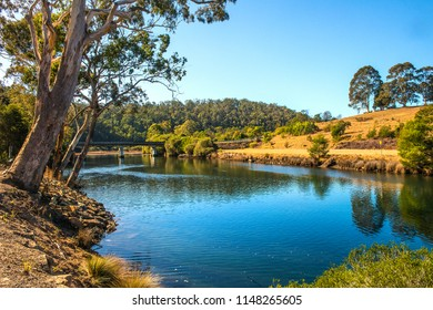 Bridge over the Yowaka river, situated in south Pambula a small town on the far south coast of NSW Austrlia, the river has incredible clear waters and sustain many varieties of fish.