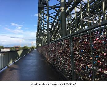 Bridge of padlocks