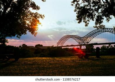 Bridge in the park in Memphis TN
