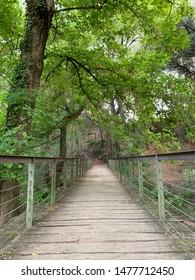 Bridge in a park in Sant Cugat del Valles in Barcelona province in Spain
