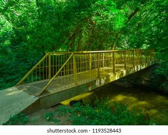 A bridge in the park. Zaporozhye, Ukraine, 23 August 2018.