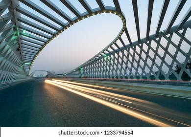 the bridge pavement at beijing,china