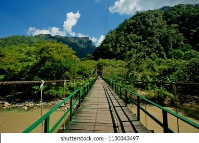 Bridge of the Peruvian jungle, Tingo Maria